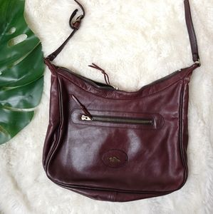Roots maroon leather